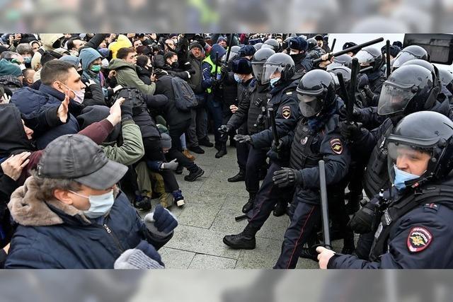 Konfrontation am Puschkin-Platz