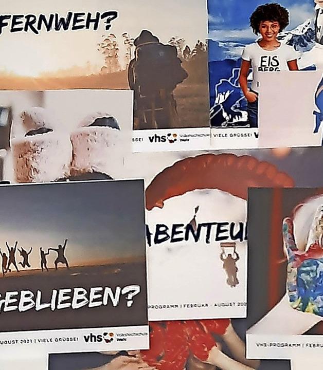 Mit Postkarten wirbt die Volkshochschu...rt des neuen Semesters am 22. Februar.  | Foto: Roswitha Frey