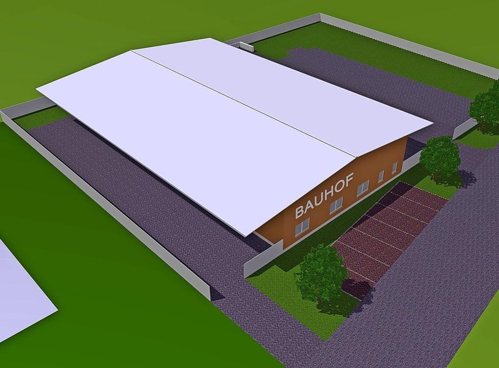 So soll der neue Bauhof einmal aussehen.     Foto: Gemeinde