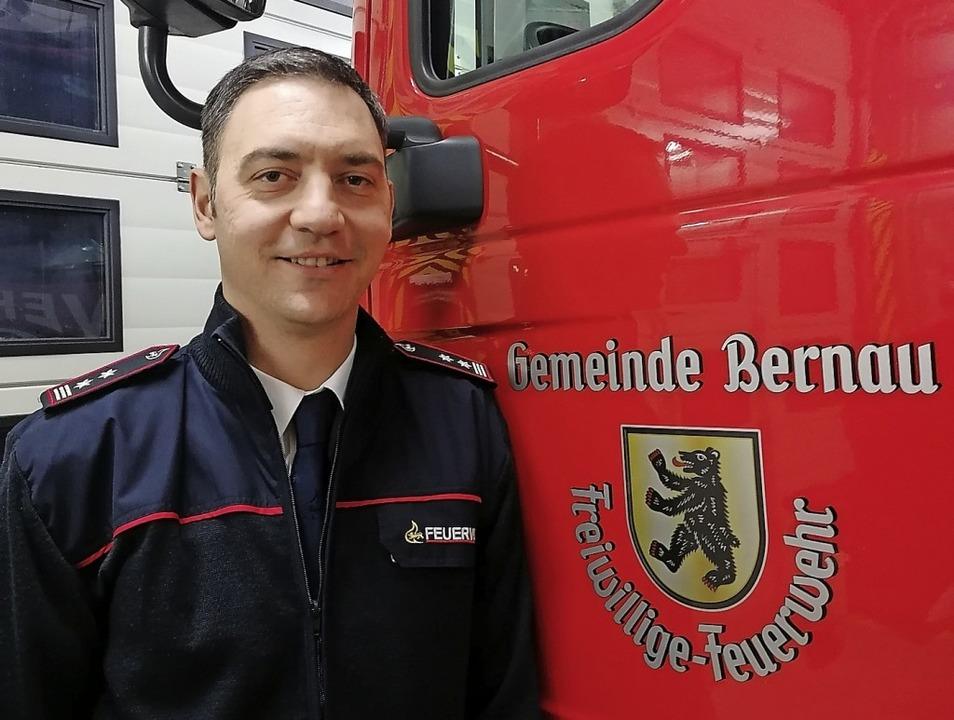 Bernaus Feuerwehrkommandant Edin Muslic    Foto: Privat