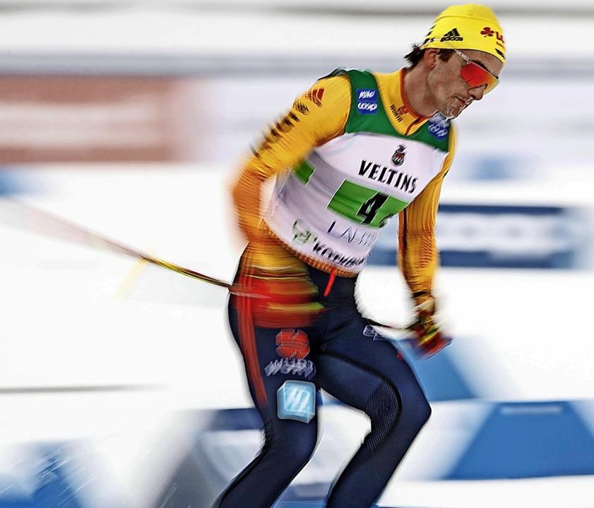 Ein Kämpfer in der Spur: Janosch Brugg...r 4x7,5 Kilometer im finnischen Lahti   | Foto: Tomi Hänninen via www.imago-images.de