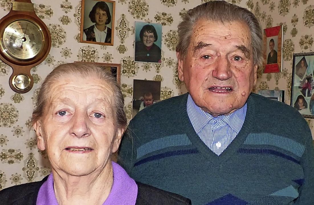 Elsa und Karl Erb sind sich seit 65 Jahren treu.   | Foto: Dieter Fink