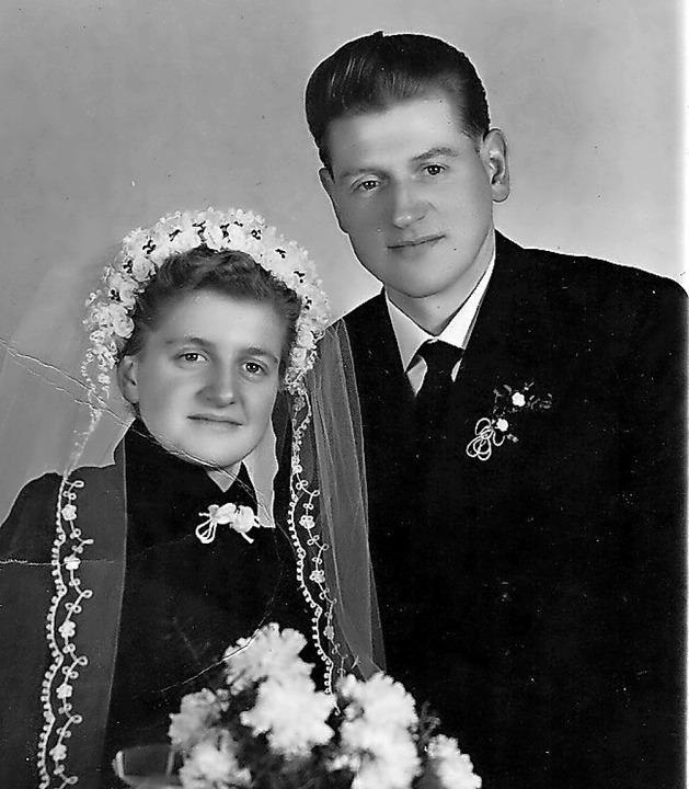 Die Hochzeit am 26. Januar 1956  | Foto: Dieter Fink