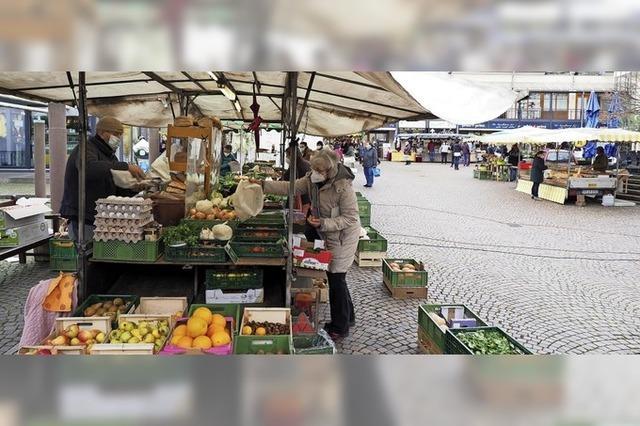 Keine Pause beim Wochenmarkt