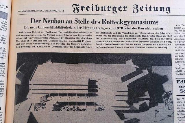 Anfang 1971 gab's in Freiburg eine regelrechte Bildungsoffensive