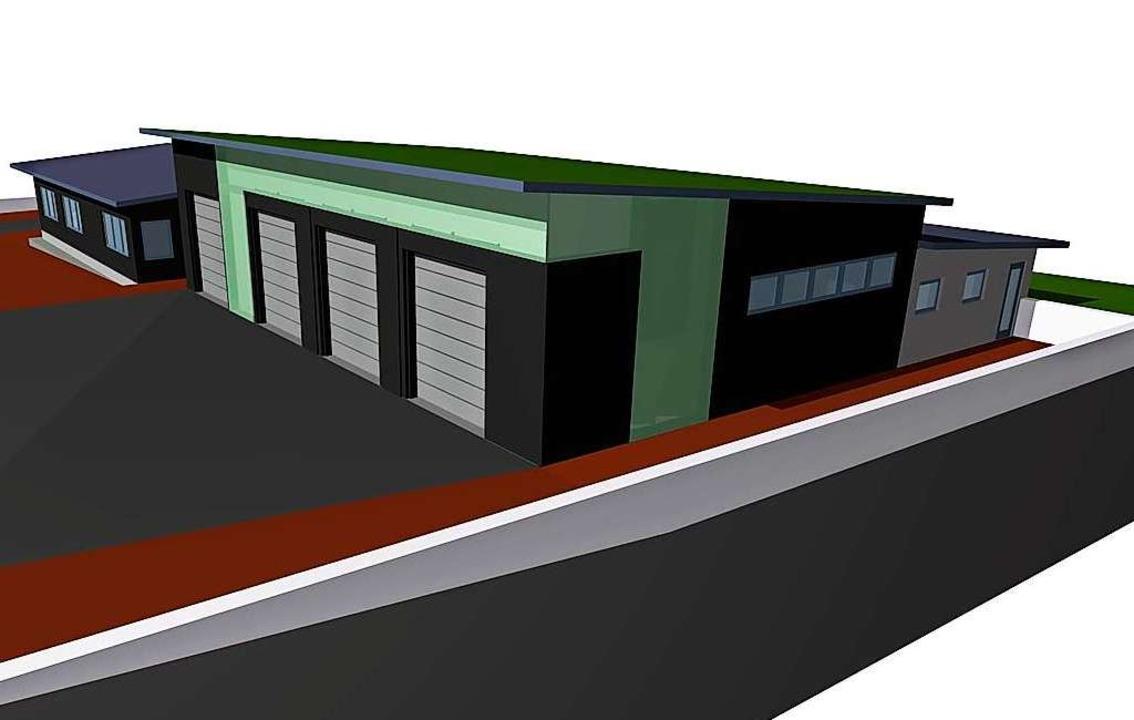 Der Vorentwurf zeigt, in welche Richtung das Feuerwehrhaus gehen könnte.    Foto: Andrea Penselin, Architektin