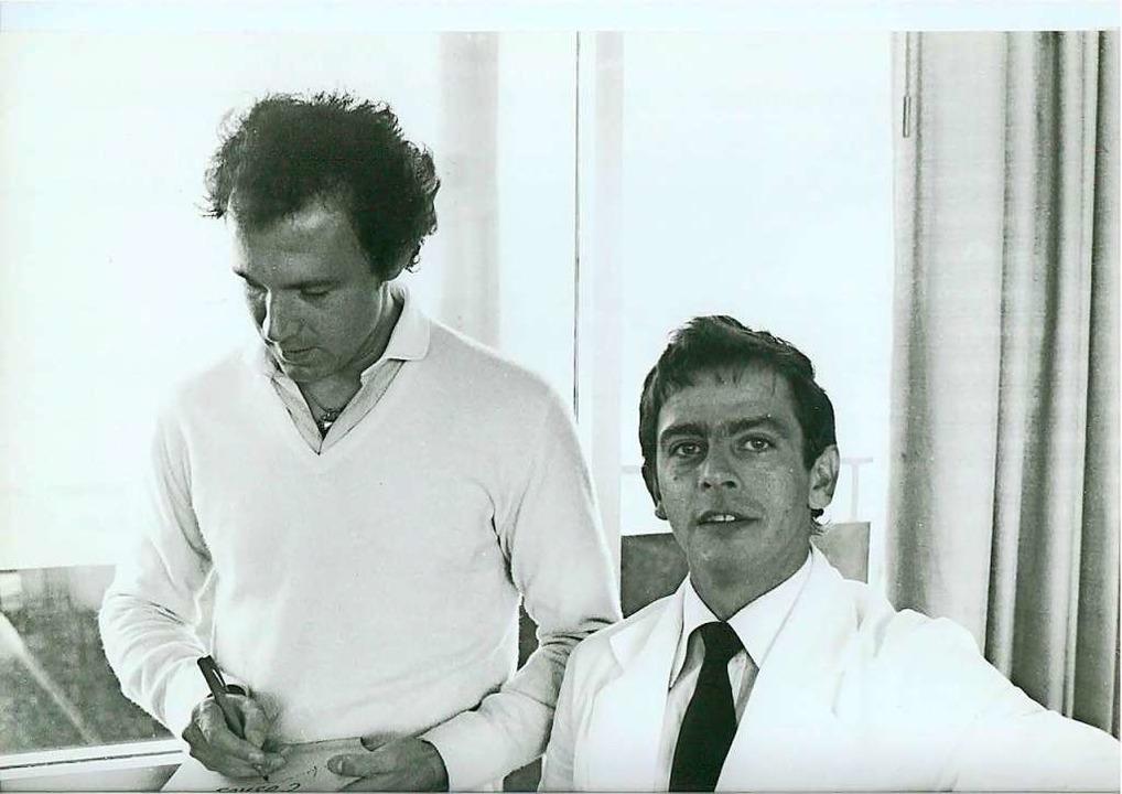 Mit Franz Beckenbauer, der damals schon für Cosmos New York spielte.  | Foto: Privat