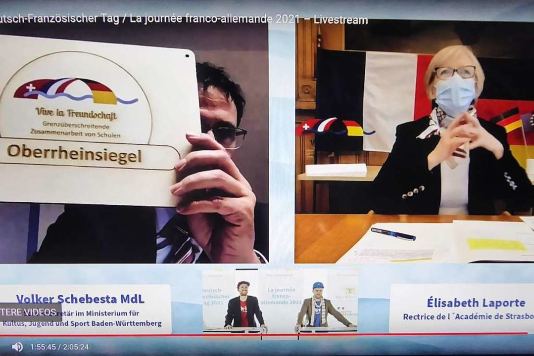 "Zumindest auf dem Bildschirm konnten d...8222;Oberrheinsiegel"" anschauen.  | Foto: Manfred Frietsch"