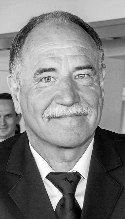 Ernst Ranft bei seiner Verabschiedung 2017.  | Foto: Volker Münch