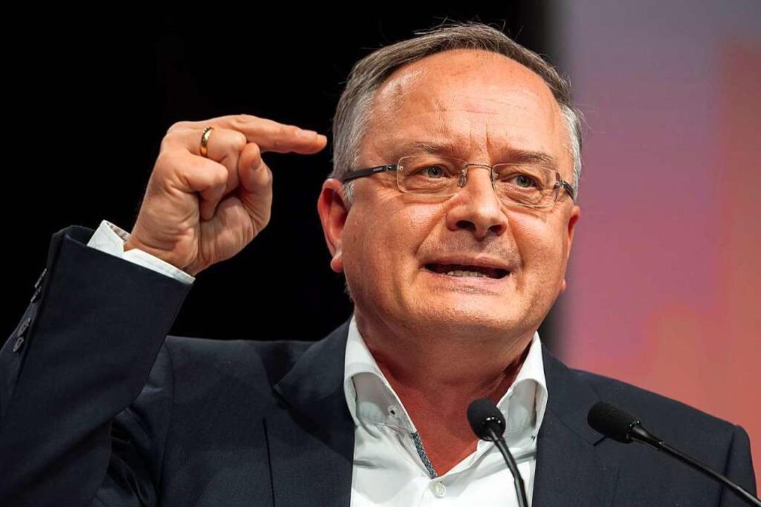 Andreas Stoch, bis 2016 Kultusminister... Nachfolgerin Susanne Eisenmann (CDU).  | Foto: Sebastian Gollnow (dpa)