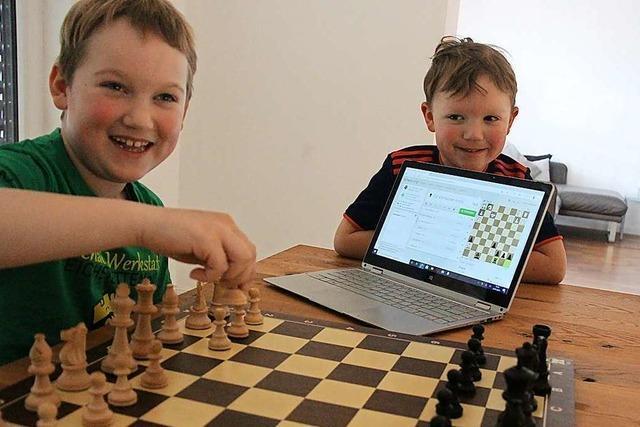 Schach macht Eichstetter Kindern auch am Laptop Spaß