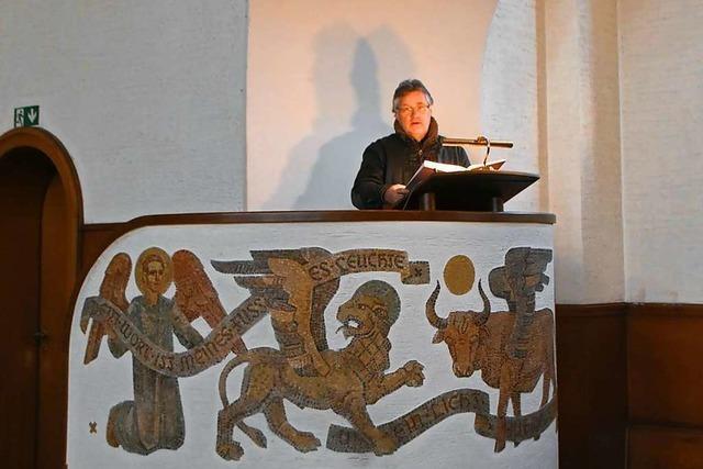 Wie die Bauzeichnung der Kanzel der Rheinfelder Christuskirche auf Ebay gefunden wurde