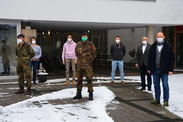 Soldaten unterstützen Pflegeeinrichtungen im Kreis Emmendingen