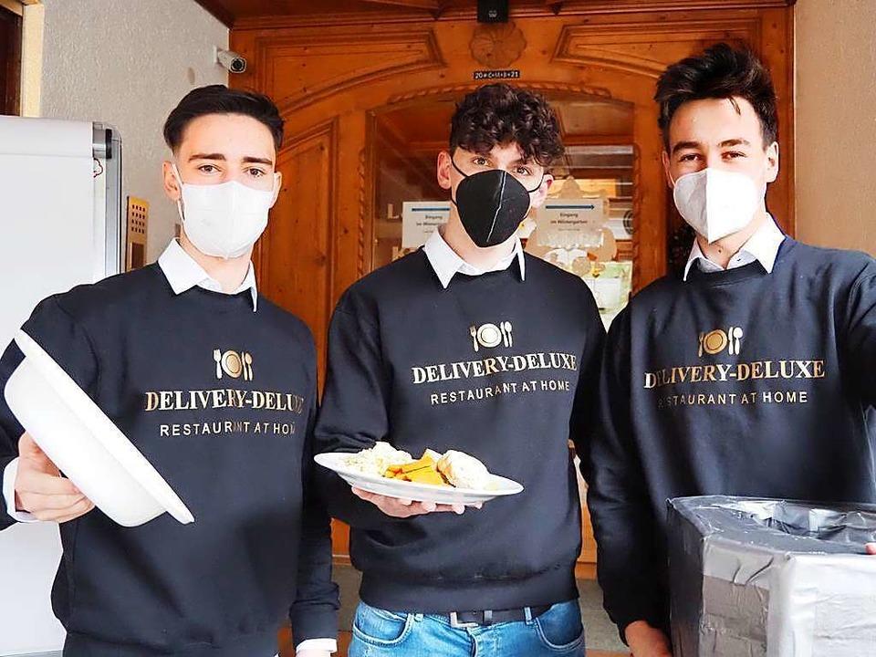 """Die drei Gründer von """"Delivery D...on, Anton Dworschak und Richard Dreier    Foto: Privat"""