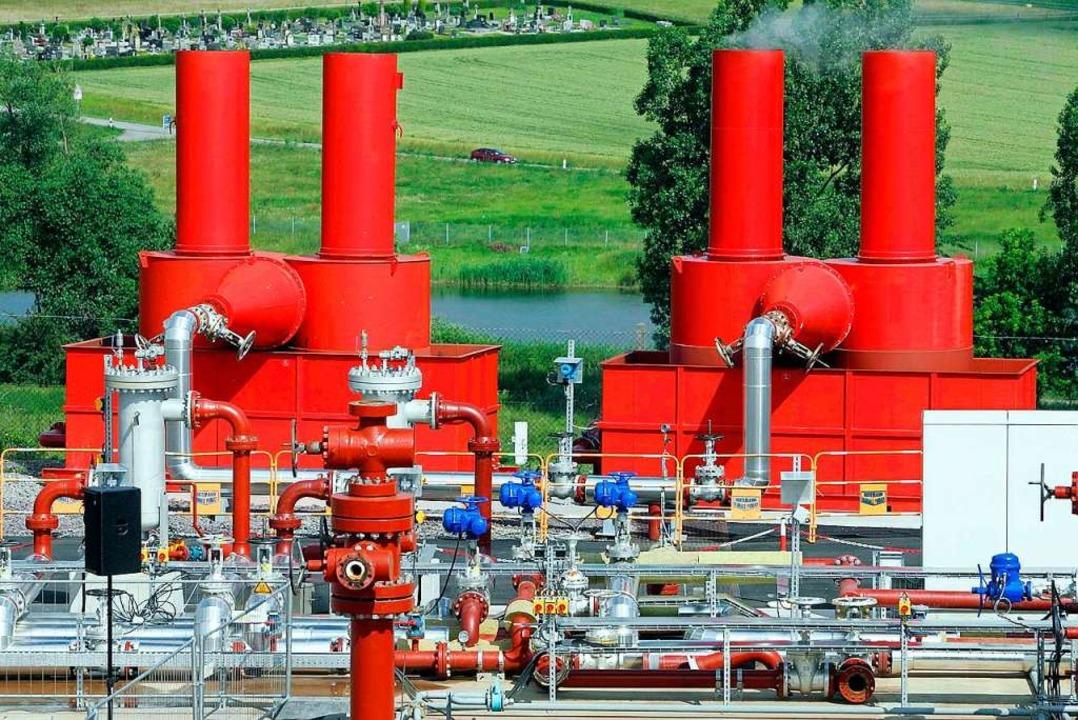 Das Geothermie-Kraftwerk bei Soultz-sous-Forêts im Département Bas-Rhin.    Foto: Jean-Marc Loos