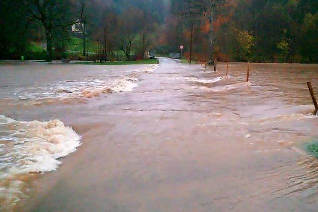 Die Stadt Schopfheim warnt vor Hochwasser
