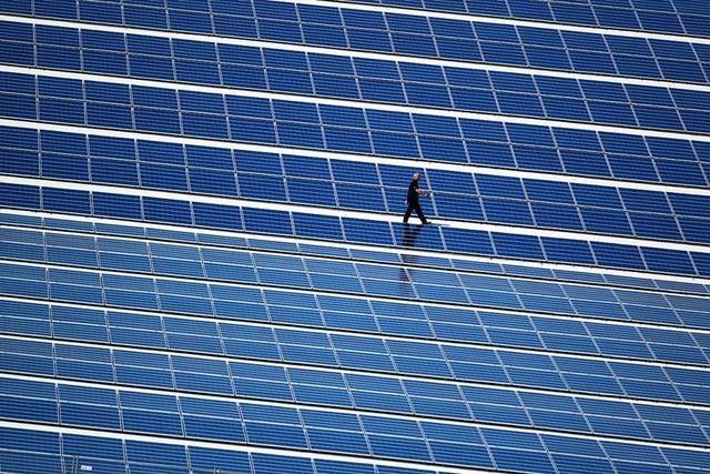 Solarmodule werden bei Neubauten im Gewerbepark Breisgau Pflicht