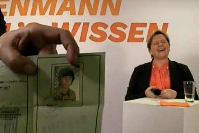 Die Zuhörer ihres Lörracher Talks sind gespaltener Meinung über Susanne Eisenmann
