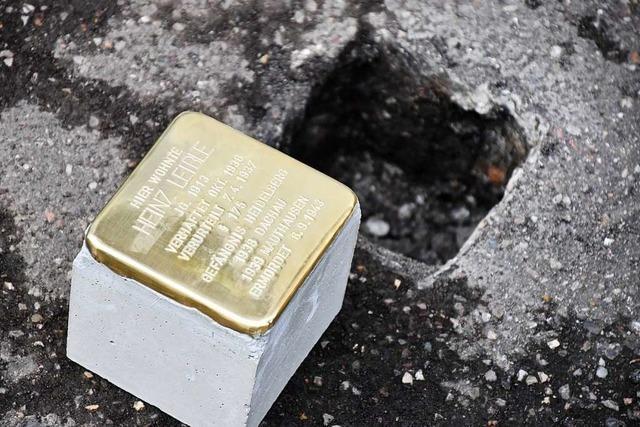 In Schopfheim sollen bereits im Oktober Stolpersteine verlegt werden