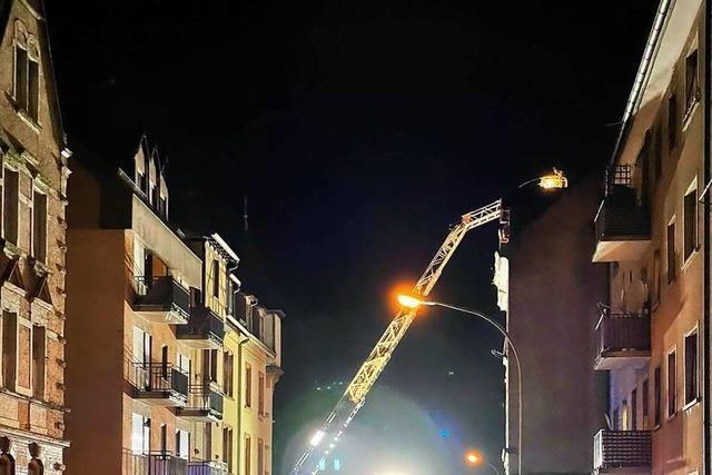 Offenburger Feuerwehr bewahrt Storchennest vor Absturz
