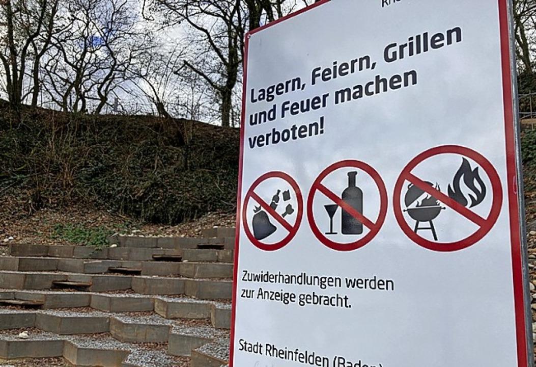 Verbotsschild am Sunnebuggele  | Foto: Dora Schöls