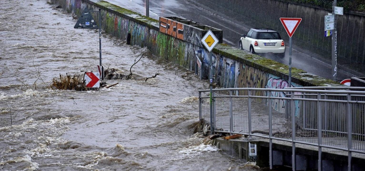Am Ende der Rampe unterhalb der Ochsen...ten Uferweg ins Wasser gefallen sein.   | Foto: Ingo Schneider