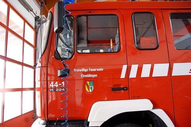Großeinsatz der Feuerwehr: Blaue Flüssigkeit entpuppt sich als Wandfarbe