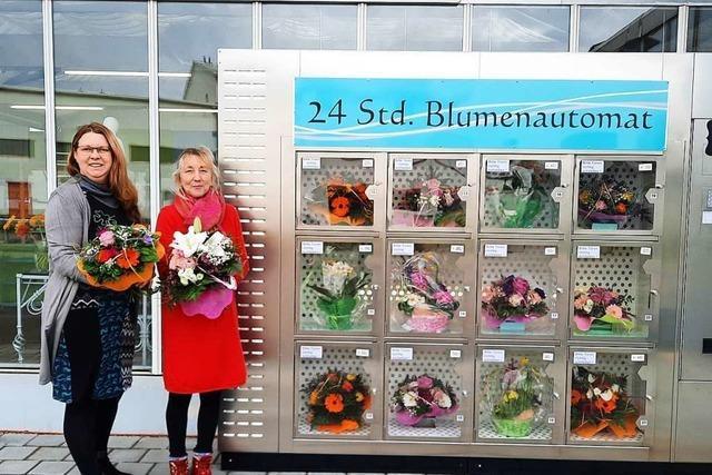 In Weil am Rhein gibt's frische Blumen aus dem Automaten