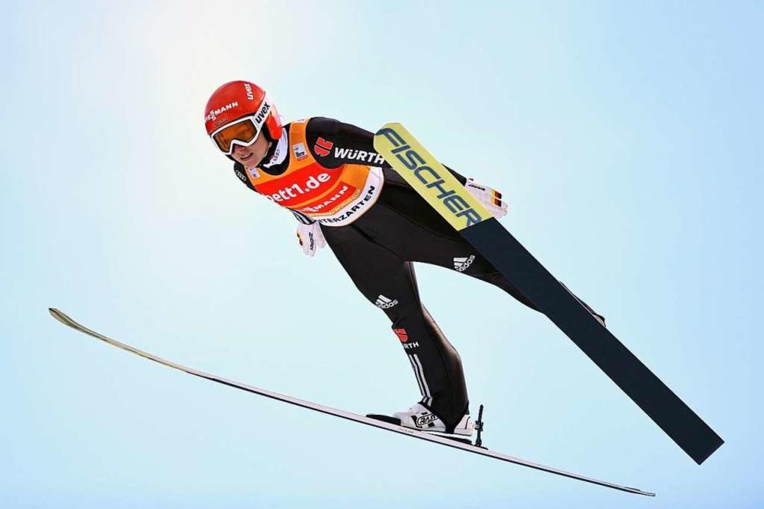 Katharina Althaus (Archivbild) landet als beste DSV-Starterin auf Rang neun.  | Foto: Felix Kästle
