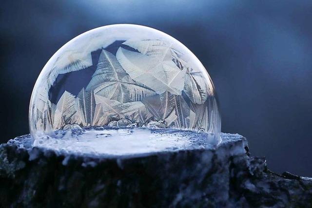 So sieht eine gefrorene Seifenblase aus