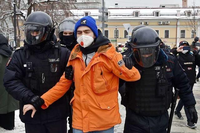Mehr als 2000 Festnahmen bei Nawalny-Protesten in Russland