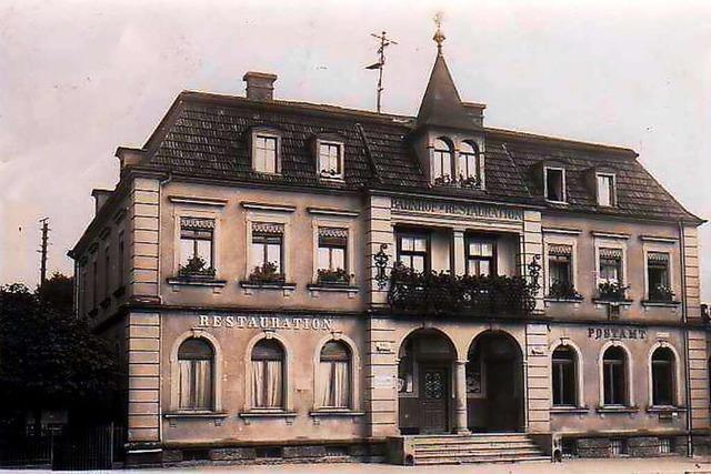 Die Bahnhof-Restauration in Wehr war ein prächtiges Refugium für Reisende