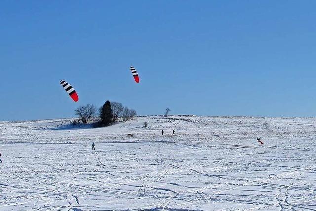 Der Löffinger Ochsenberg ist ein Paradies für Snowkiter