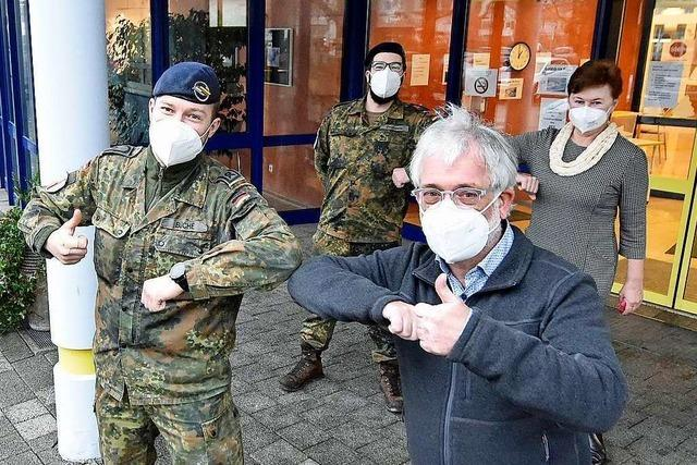 Nach dem Corona-Ausbruch halfen 20 Soldaten im St. Laurentiushaus in Freiburg-Haslach