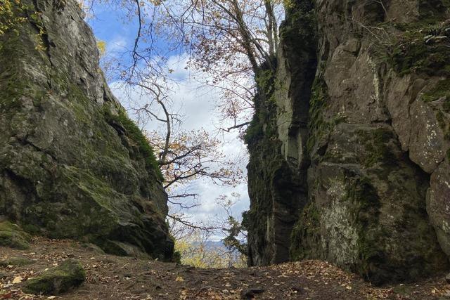 Der Kybfelsen über Freiburg war einst ein Herrschaftssitz in Höhenlage