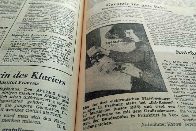 Elektronische Sitzplatzreservierungen waren 1971 eine Neuigkeit