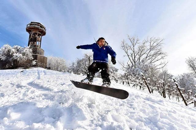Im Januar gab es in Freiburg richtig viel Niederschlag – als Schnee