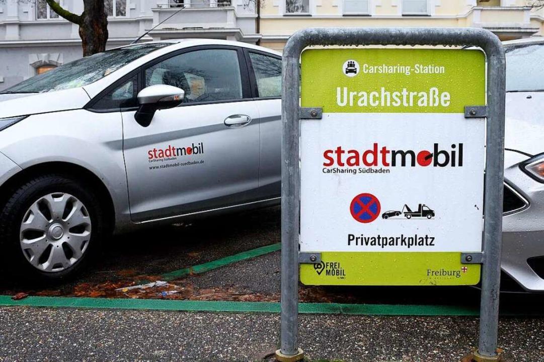 Ob die Carsharing-Firma Stadtmobil ihr...n darf, ist unter Juristen umstritten.    Foto: Thomas Kunz