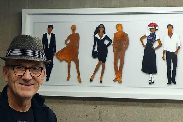 Der Binzener Künstler Gerhard Völkle hat trotz Corona volle Auftragsbücher