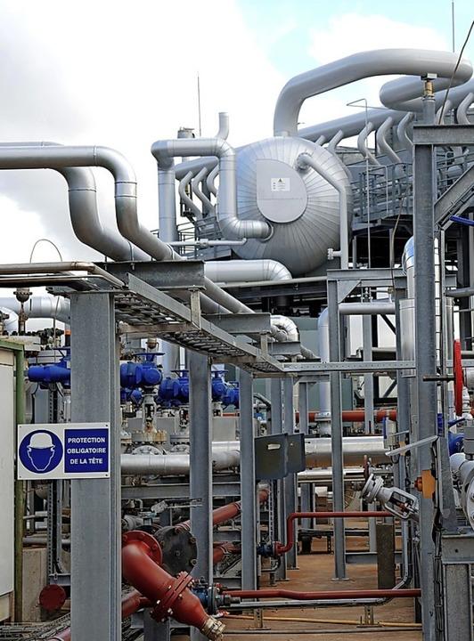 Geothermiekraftwerk im französischen Soultz    Foto: Claudia Kornmeier