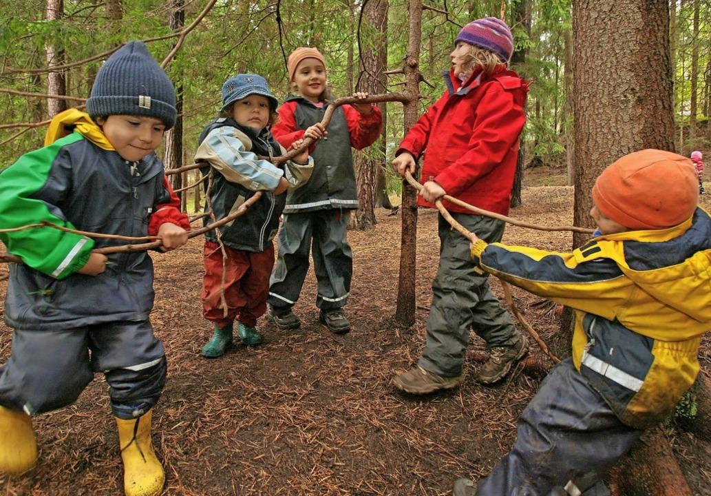 Rund 20 Kinder zwischen drei  und sech...garten des Trägers  Timeout besuchen.   | Foto: Martin Schutt