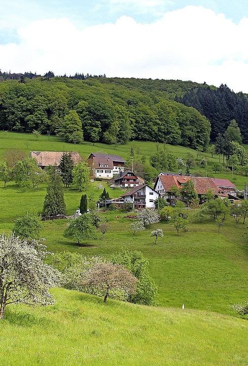 Der Ortsteil Käsacker ist idyllisch gelegen und hat 40 Einwohner.  | Foto: Rolf-Dieter Kanmacher