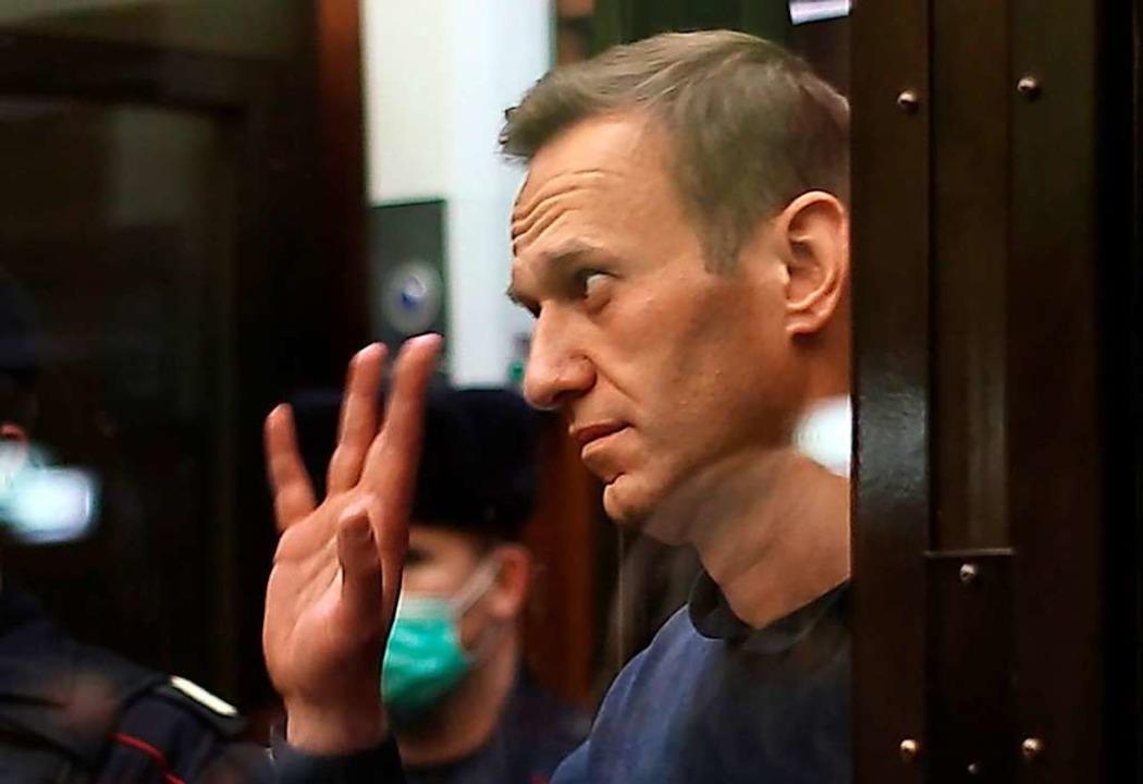 Alexej Nawalny im Gerichtssaal  | Foto: Moscow City Court Press Office (dpa)
