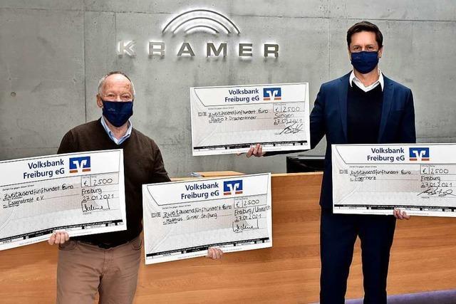 Kramer GmbH spendet 10.000 Euro an soziale Einrichtungen in Freiburg