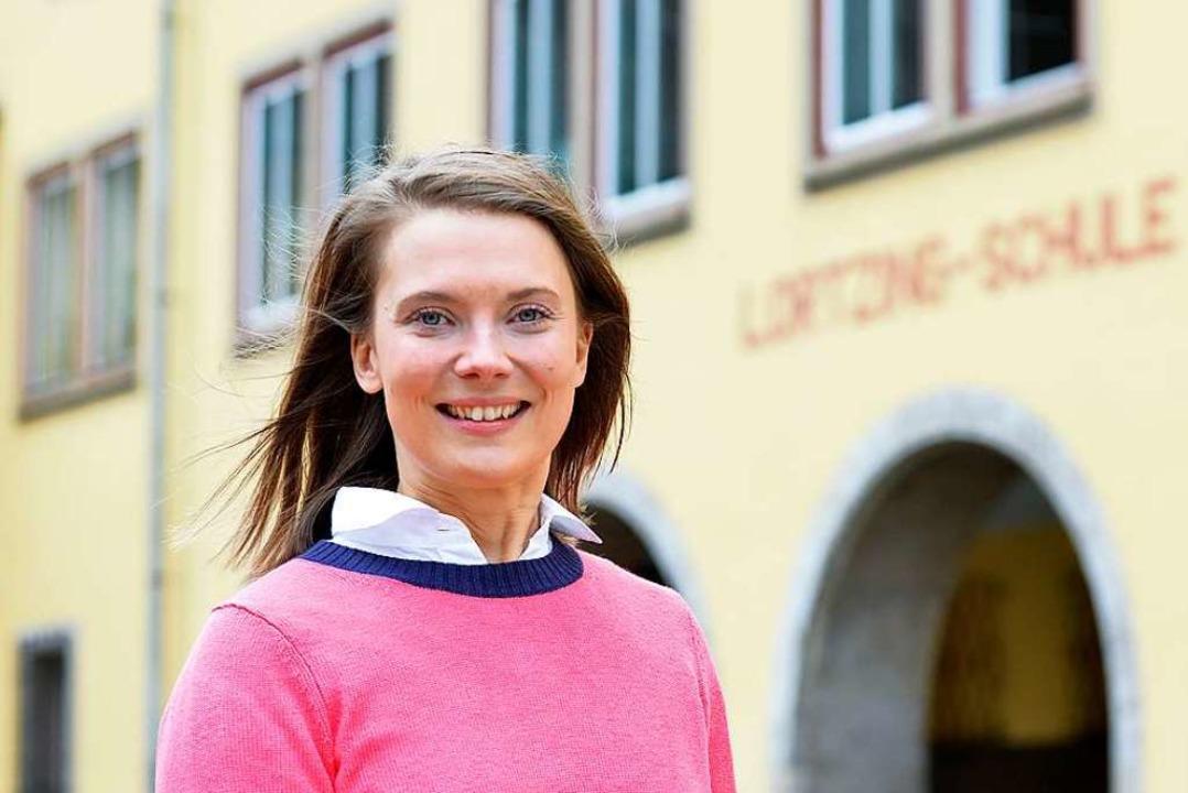Marie-Luise Furlan fühlt sich rundum w...r Lortzing-Schule, die sie nun leitet.  | Foto: Michael Bamberger