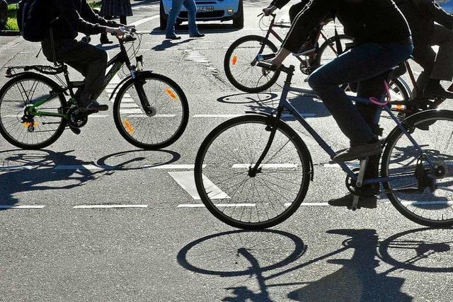Am meisten Kritik gibt's an den Freiburger Radfahrern