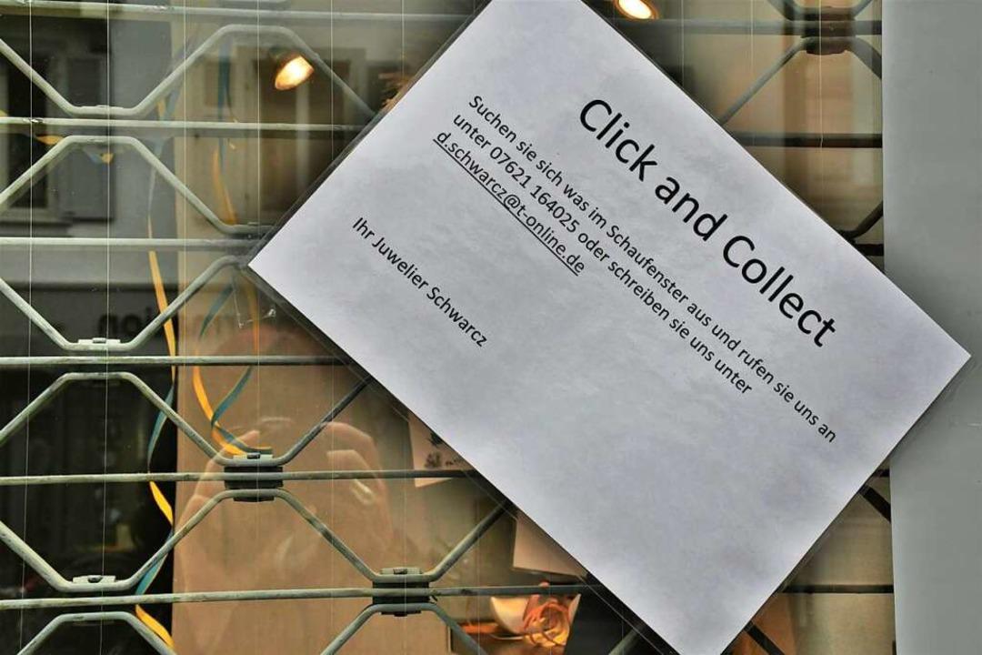 "Neu ist die Aktion ""Click and Collect"".  | Foto: Barbara Ruda"