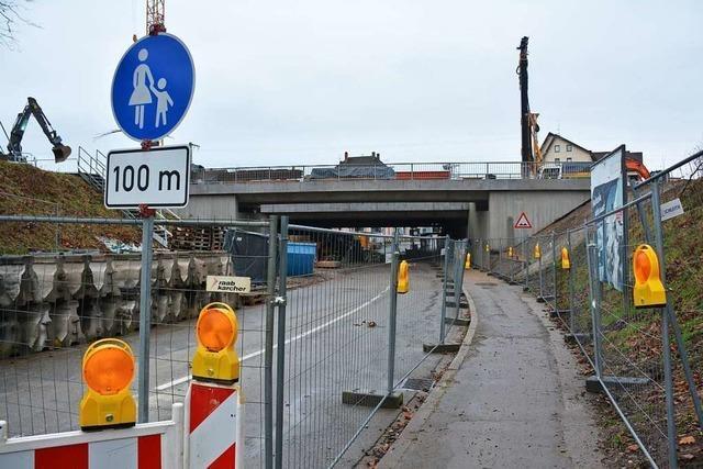 Der Bau der Heldelinger Unterführung in Haltingen liegt im Zeitplan