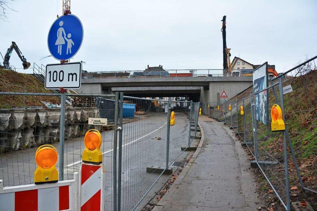 Der Bau der Heldelinger Unterführung liegt im Zeitplan  | Foto: Hannes Lauber