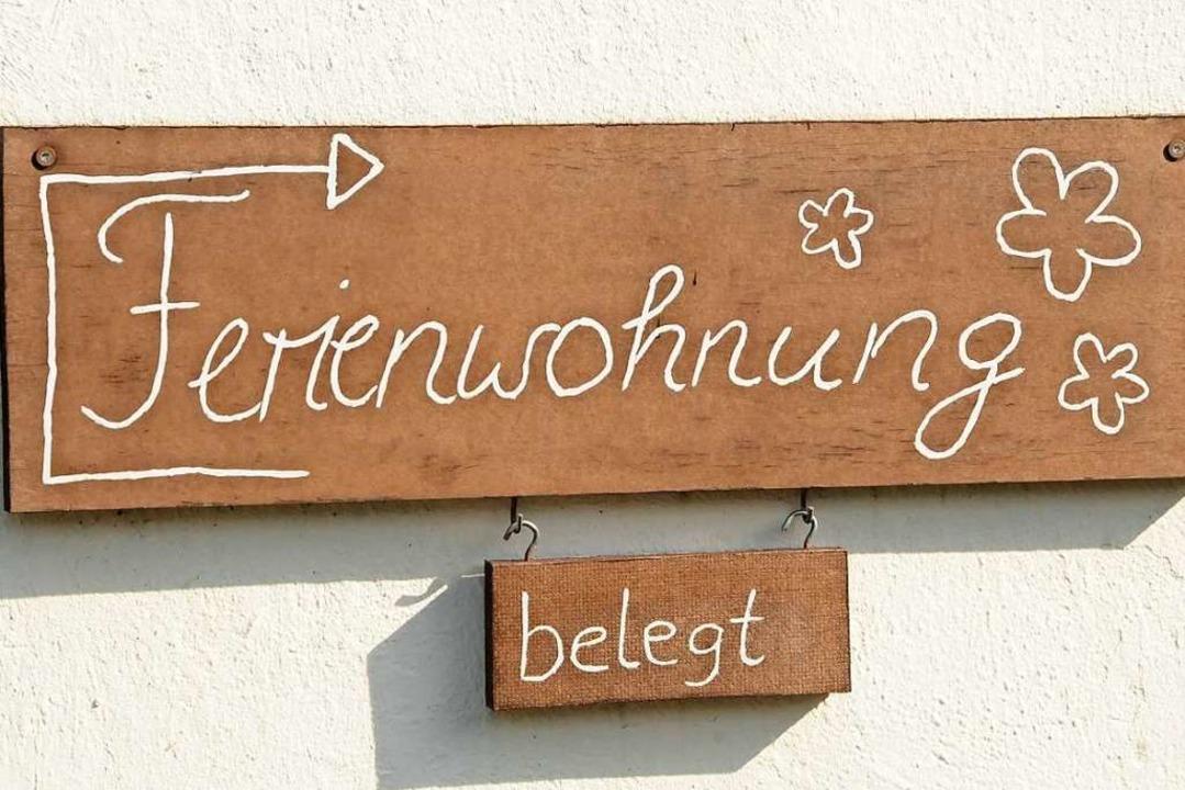 Soll Wohnraum als Ferienwohnung genutz...en? Darum ging es in der Ratssitzung.   | Foto: Robert Bergmann